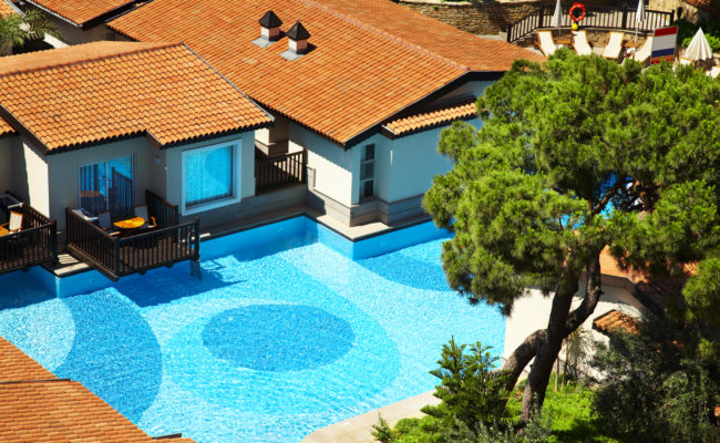 Hotel with cool swimming pool