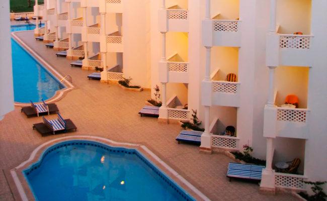 Luxury hotel resort building